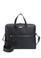 Saint Laurent Leather Briefcase Black