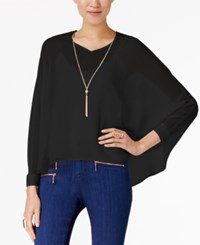 Thalia Sodi Dolman Sleeve Necklace Top Only At Macy's Deep Black