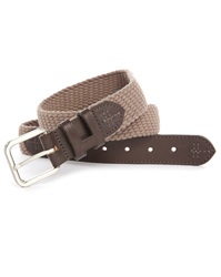 Hackett Dual Fabric Grey Cord Brown Leather Belt