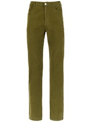 Egrey Ribbed Skinny Trousers Green
