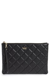 Kate Spade New York Emerson Place Filey Quilted Leather Clutch Black