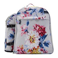 Joules Four Person Picnic Rucksack Grey Whitstable Floral