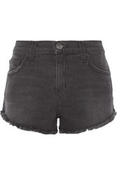 Current Elliott The Gam Stretch Denim Shorts Black
