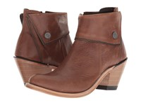 Old West Boots Zippered Ankle Boot Brown Cowboy
