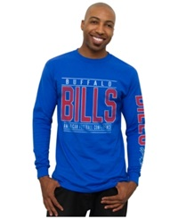Authentic Nfl Apparel Men's Long Sleeve Buffalo Bills Halfback T Shirt
