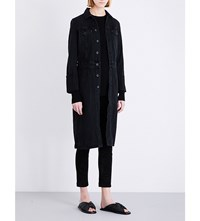 Helmut Lang Denim Trench Coat Black