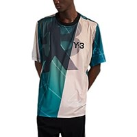 Y 3 Abstract Print Soccer Jersey Turquoise