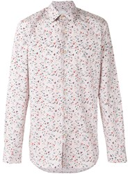 Paul Smith Floral Print Shirt Pink Purple