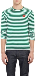 Comme Des Garcons Striped Long Sleeve T Shirt Green