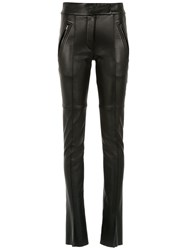 Gloria Coelho Leather Skinny Pants Black
