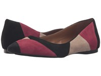 French Sole Star Burgundy Taupe Black Suede Women's Dress Flat Shoes