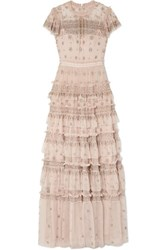 Needle And Thread Andromeda Embellished Tulle Gown Blush