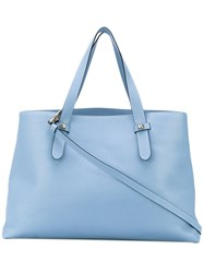 Borbonese Classic Tote Women Leather Polyester One Size Blue