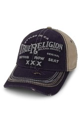 True Religion Men's Brand Jeans 'Triple X' Baseball Cap Blue Navy