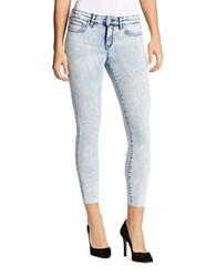 William Rast Cropped Acid Wash Jeans Arabian Sky