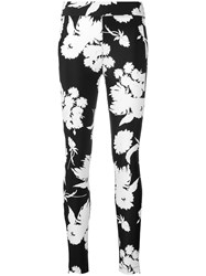 Ganni Skinny Fit Floral Trousers Black