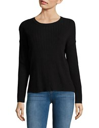 Lord And Taylor Knit Long Sleeve Novelty Sweater Black