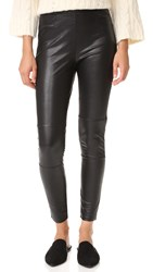 Ella Moss Faux Leather Leggings Black