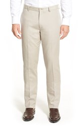 Men's Linea Naturale Stretch Cotton And Modal Flat Front Pants