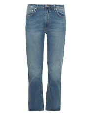 Acne Studios Row Carter Cropped Stretch Cotton Jeans