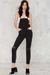 Nasty Gal Res Denim Trouble Maker Overalls