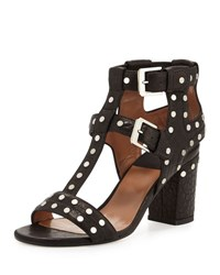 Laurence Dacade Helie Studded Leather Caged Sandal Black