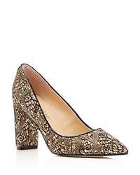 Ivanka Trump Katie Lace Covered Metallic Pointed Toe Pumps Gold Black
