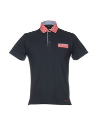 Henry Cotton's Polo Shirts Dark Blue