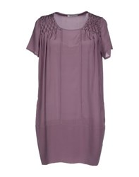 Pinko Grey Dresses Short Dresses Women Mauve