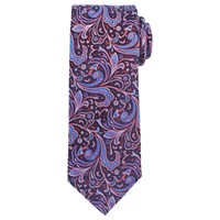 John Lewis Bold Paisley Woven Silk Tie Red Blue Navy