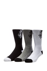 Stussy Stock Crew Socks Black