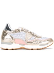 Philippe Model Panelled Sneakers Women Leather Polyamide Pvc Rubber 40 Metallic