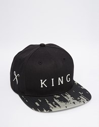 King Apparel 8 Bit Snapback Cap Black