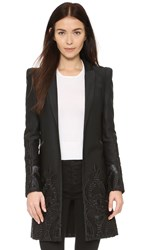 Alexis Marios Embroidered Coat Black