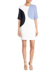 Aquilano Rimondi Elbow Length Sleeve Colorblock Dress