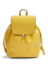 Topshop Lucy Metal Tab Backpack Yellow Yellow Multi