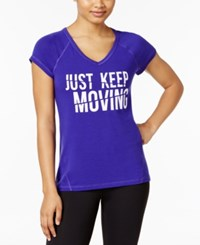 Ideology Keep Moving Graphic T Shirt Only At Macy's Blazing Purple
