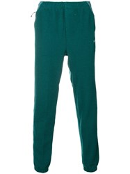 Adidas Contrast Panel Track Trousers Green