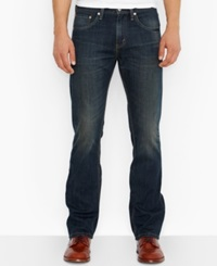 Levi's 527 Slim Bootcut Fit Covered Up Jeans Dark Blue