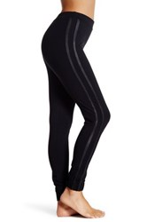 Spanx Track Legging With Faux Leather Detail Black