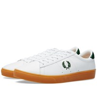 Fred Perry Spencer Perforated Leather White