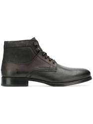 Tommy Hilfiger Lace Up Boots Brown