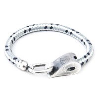 Anchor And Crew Stornoway Rope And Silver Bracelet Grey Dash