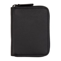 Common Projects Woman By Black Saffiano Zip Wallet