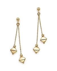 Bloomingdale's 14K Yellow Gold Double Dangle Drop Earrings