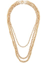 Susan Caplan Vintage 1990'S Three Chain Necklace Gold
