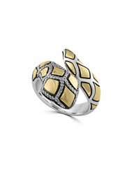 Effy Diamond Sterling Silver And 18K Yellow Gold Snake Ring
