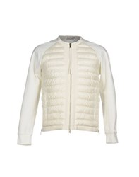 Moncler Coats And Jackets Down Jackets Men White