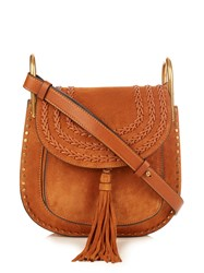 Chloe Hudson Small Suede Shoulder Bag Tan