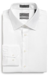 Men's Big And Tall John W. Nordstrom Trim Fit Non Iron Solid Dress Shirt White